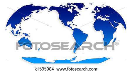 手绘图 - 世界地图, geoid