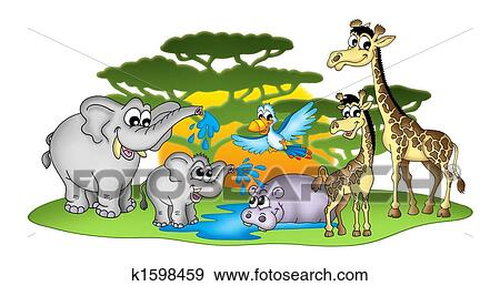 African animal Stock Illustrations. 7,978 african animal clip art ...