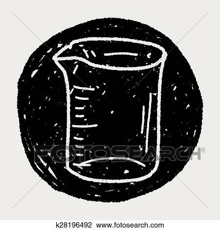 Messbecher clipart  Clipart - meßbecher, gekritzel k28196492 - Suche Clip Art ...