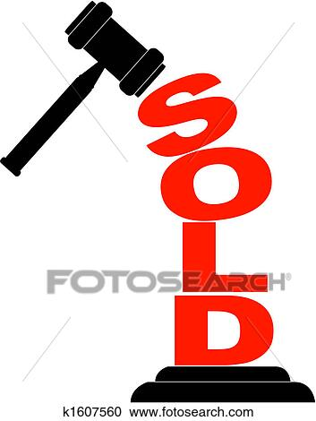 clipart of gavel hitting the word sold k1607560 search clip art rh fotosearch com house sold sign clipart house sold sign clipart