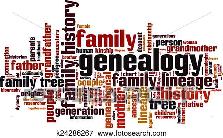 clip art of genealogy word cloud k24286267 search clipart rh fotosearch com Clip Art Family History genealogy family tree clipart