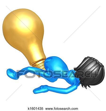 Stock Illustration of Giving Birth To The Big Idea k1601435 ...