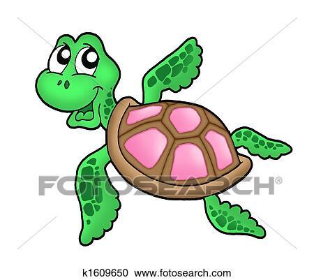 Clip Art Sea Turtle Clipart sea turtle clipart and stock illustrations 806 vector little pink