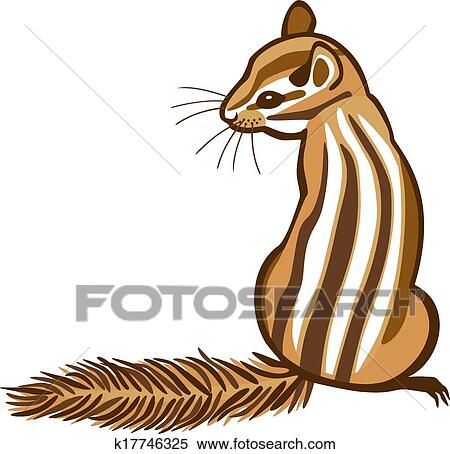 clipart of chipmunk k17746325 search clip art illustration murals rh fotosearch com chipmunk face clipart animated chipmunk clipart