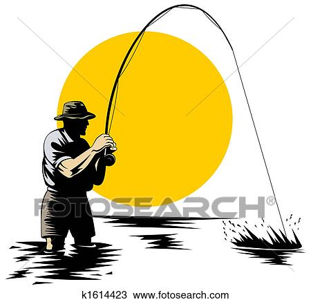 Clip Art Fly Fishing Clip Art clipart of fly fishing k1082991 search clip art illustration fishing
