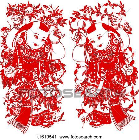 剪贴画 中国的新年