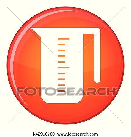 Messbecher clipart  Clipart - meßbecher, symbol, flache, stil k42950780 - Suche Clip ...