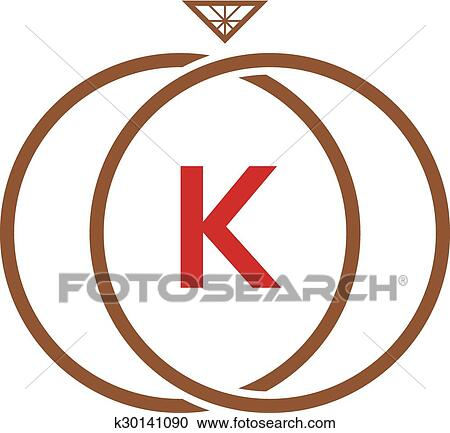 clipart of k letter ring diamond logo k30141090 search clip art rh fotosearch com letter k clip art free fancy letter k clipart
