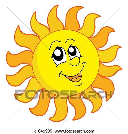 Clip Art of Cartoon sun traveller k1718952 - Search Clipart ...