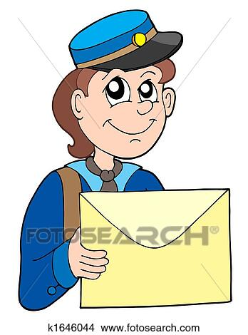 Dessins facteur lettre k1646044 recherche de clip arts d 39 illustrations et d 39 images - Facteur dessin ...