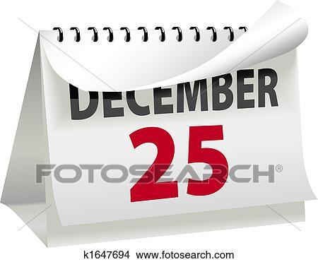 Clipart calendario giri uno pagina a natale 25 for Clipart calendario