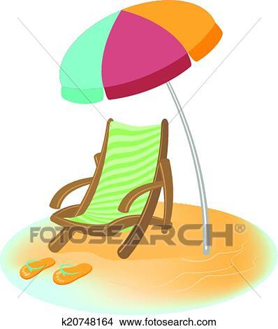 Sonnenschirm clipart gratis  Clipart - sonnenschirm, sunbed, und, badelatschen k20748164 ...