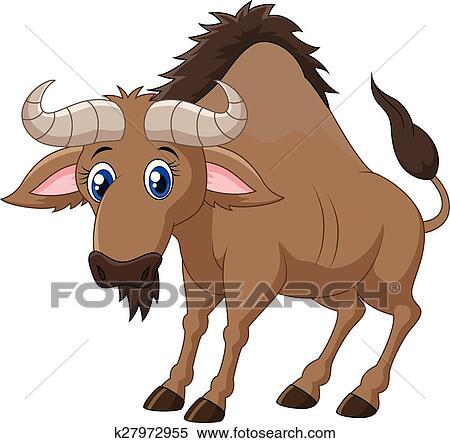 Clipart cartone animato animale gnu k27972955 cerca - Animale cartone animato immagini gratis ...