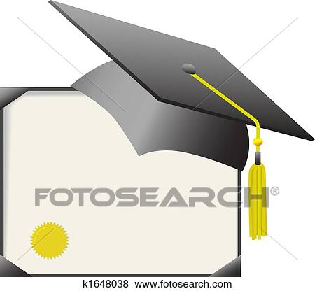clip art of mortarboard graduation cap diploma certificate  clip art mortarboard graduation cap diploma certificate search clipart illustration