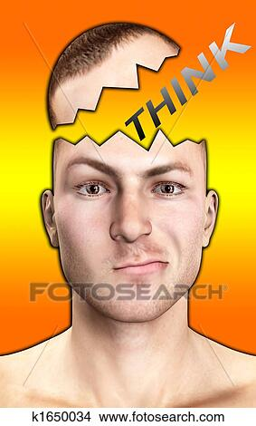 Drawings of Confused Man Thinking k1650034 - Search Clip Art ...