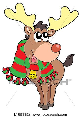 clip art l228cheln weihnachten elch k1651152 suche