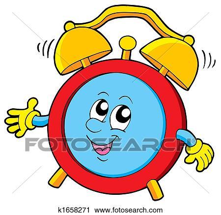 Wecker clipart  Clipart - karikatur, wecker k1658271 - Suche Clip Art ...