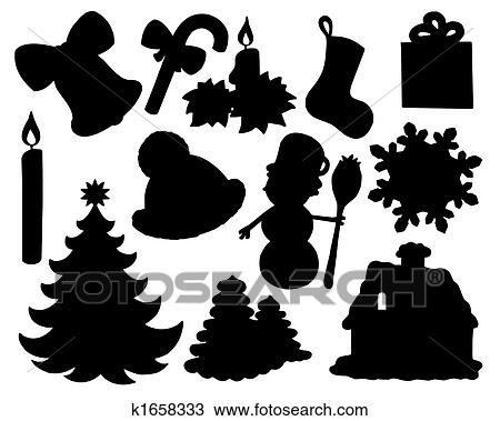 zeichnung weihnachten silhouette sammlung 02 k1658333. Black Bedroom Furniture Sets. Home Design Ideas