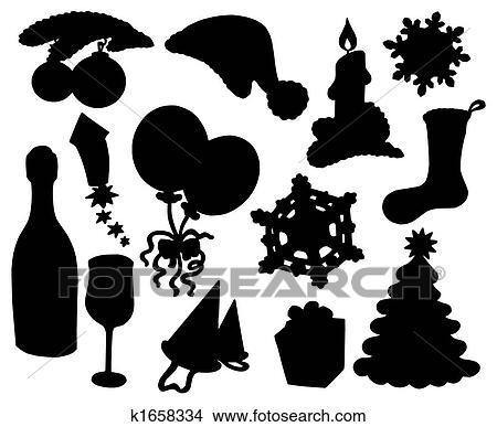 zeichnungen weihnachten silhouette sammlung 03. Black Bedroom Furniture Sets. Home Design Ideas