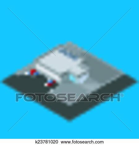 Supermarkt gebäude clipart  Clipart - vektor, abbildung, von, isometrisch, supermarkt, gebäude ...