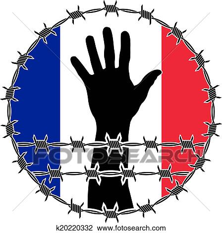 clip art of violation of human rights in france k20220332