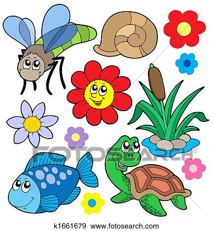 stock illustration small animals collection 5 fotosearch search vector clipart drawings - Small Animal Pictures To Print