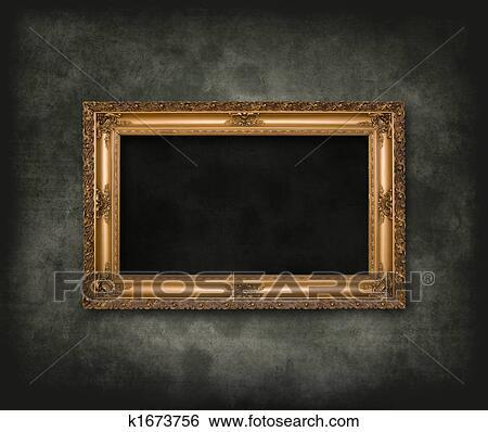 Stock Illustration of Antique carved frame k1673756 - Search Clip Art ...
