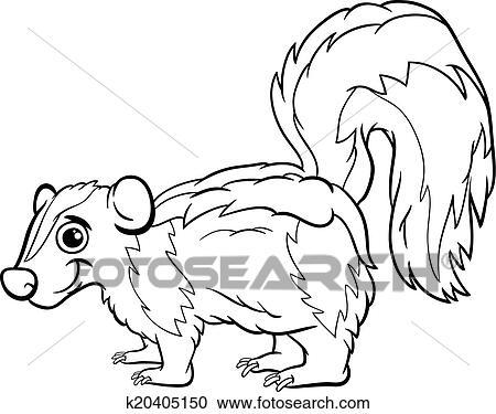 Clipart puzzola animale cartone animato coloritura - Animale cartone animato immagini gratis ...