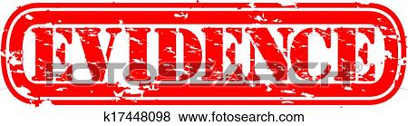 Clip Art of Evidence grunge rubber stamp, vecto k17448098 - Search ...
