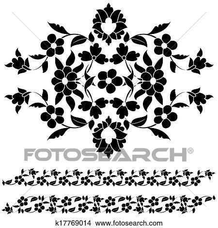 剪贴画 - 黑白, 巨大,