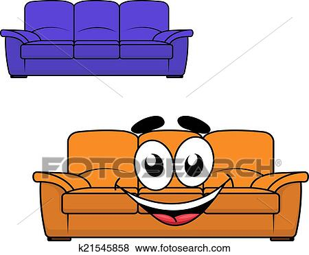 Clip art cartone animato divano mobilia k21545858 for Divano disegno
