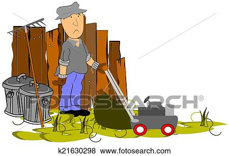 Stock Illustration of yard work k21630298 - Search EPS ...