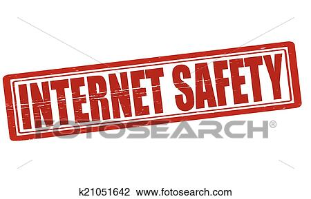 clipart of internet safety k21051642 search clip art illustration rh fotosearch com Internet Safety Cllpart internet safety pictures clip art