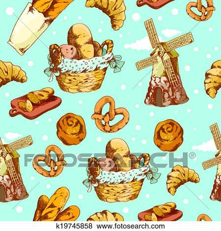 - 面包房, 手