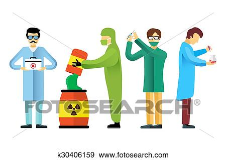 clip art of science laboratory people set k30406159 search clipart rh fotosearch com science lab clipart free science lab table clipart