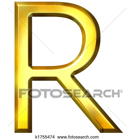 Drawings of 3d golden letter r k1755474 search clip art drawing 3d golden letter r fotosearch search clip art illustrations wall posters thecheapjerseys Images