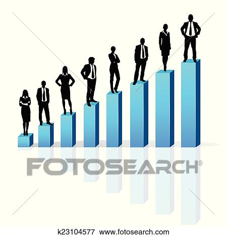 clip art of business people standing on 3d financial bar graph group rh fotosearch com  business people clip art free