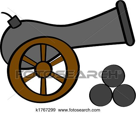 clip art of cannon k1767299 search clipart illustration posters rh fotosearch com cannon clipart barrel cannon clipart barrel