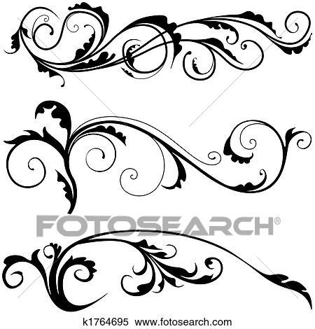 Stock Illustraties - floral decoratie k1764695 - Zoek ...