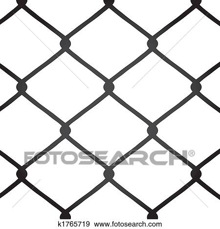 Chain Link Fence Drawing stock illustration of chain link fence k1765719 - search vector
