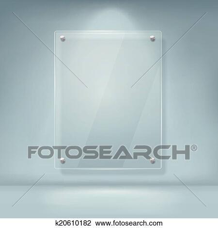 Glas leer clipart  Clipart - vektor, abbildung, von, leer, glas, werbewand k20610182 ...