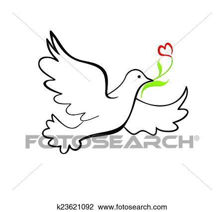 Clipart - colomba pace k23621092 - Cerca Clipart, Illustrazioni ...