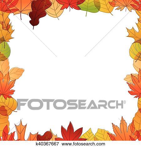 剪贴画 - 不同, 颜色, 秋季树叶图片