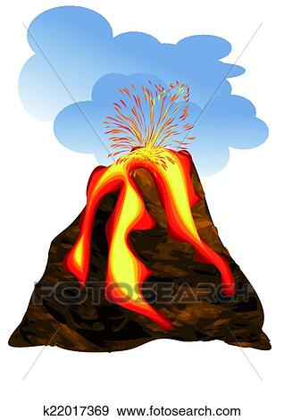 clip art of volcano erupting k22017369 search clipart rh fotosearch com clipart volcano black and white clipart image of volcano