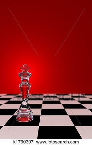 Bild - glas, schach, koenig. Fotosearch - Suche Stockfotografie, Fotos, Drucke,Bilder und Fotoclipart