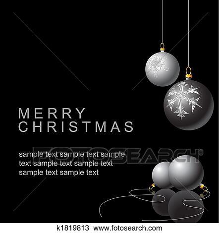 手绘图 黑白, 圣诞节, 灯泡