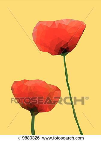 Clip art of geometric poppy flower k19880326 search clipart clip art geometric poppy flower fotosearch search clipart illustration posters drawings mightylinksfo