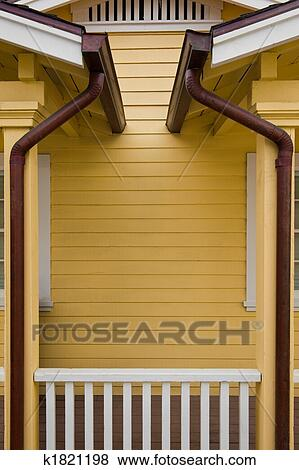 Pictures Of Copper Gutters K1821198 Search Stock Photos