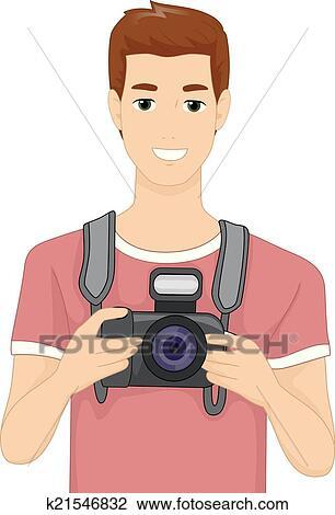 剪贴画 - 数字照相机, 人