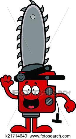 Clipart dessin anim tron onneuse heureux k21714649 recherchez des cliparts des - Coloriage tronconneuse ...